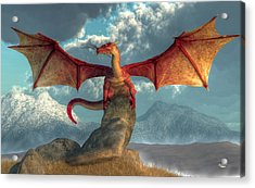 Fire Dragon Acrylic Print by Daniel Eskridge