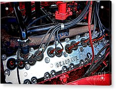 Fire Engine Engine Acrylic Print by Olivier Le Queinec