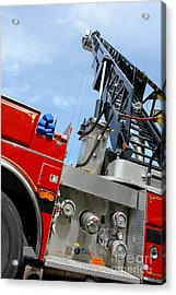Fire Engine Acrylic Print by Olivier Le Queinec