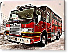 Fire Engine Red Acrylic Print by Frozen in Time Fine Art Photography