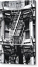 Fire Escape Acrylic Print by Larry Butterworth
