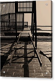 Fire Escape Sepia Acrylic Print by Don Spenner