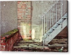 Fire Escape Stairs Acrylic Print by Tom Gowanlock
