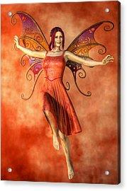 Fire Fairy Acrylic Print by Kaylee Mason