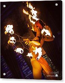 Fire Fans Acrylic Print