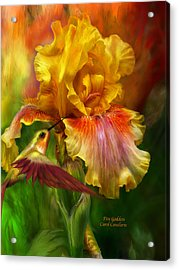 Fire Goddess Acrylic Print by Carol Cavalaris