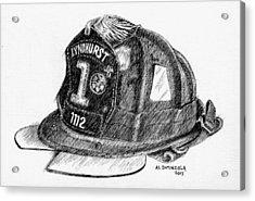 Fire Helmet Acrylic Print
