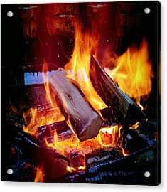 Fire - Hot And Orange Acrylic Print
