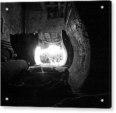 Fire In The Hole Bw Acrylic Print by Elizabeth Sullivan