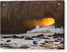 Fire In The Hole Acrylic Print