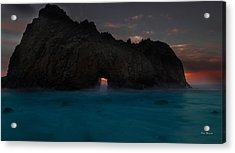 Fire In The Hole.... Big Sur Acrylic Print