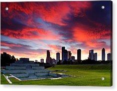 Fire In The Houston Sky Acrylic Print
