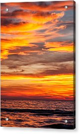 Fire In The Sky Acrylic Print by Brian Boudreau