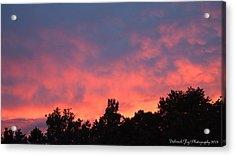 Acrylic Print featuring the photograph Fire In The Sky by Deborah Fay