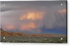 Fire In The Sky Acrylic Print by Feva  Fotos