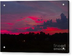 Fire In The Sky Acrylic Print by Heather Roper