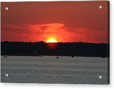 Acrylic Print featuring the photograph Fire In The Sky by Karen Silvestri