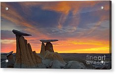 Fire In The Sky Acrylic Print by Keith Kapple