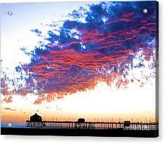 Fire In The Sky Acrylic Print by Margie Amberge