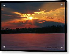 Acrylic Print featuring the photograph Fire In The Sky by Michaela Preston