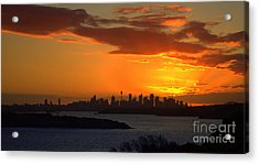 Acrylic Print featuring the photograph Fire In The Sky by Miroslava Jurcik