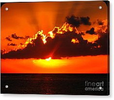 Acrylic Print featuring the photograph Fire In The Sky by Patti Whitten