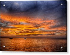 Fire In The Sky Acrylic Print by Phil Abrams