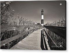 Fire Island Boardwalk Acrylic Print by George Oze