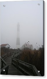 Fire Island Lighthouse In Fog Acrylic Print
