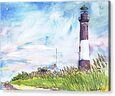 Fire Island Lighthouse Late Summer Acrylic Print by Susan Herbst