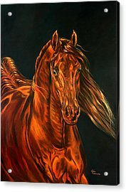 Acrylic Print featuring the painting Fire by Leena Pekkalainen