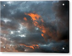 Acrylic Print featuring the photograph Fire Light by Allen Carroll