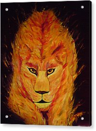 Acrylic Print featuring the painting Fire Lioness by Persephone Artworks