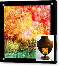Fire Necklace Acrylic Print
