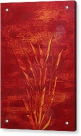 Acrylic Print featuring the painting Fire by Nico Bielow