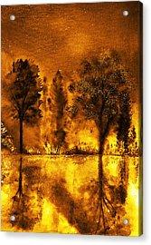Fire Of Angels Acrylic Print by Ann Marie Bone