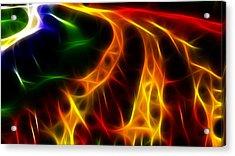 Fire Of Life Acrylic Print by Fabian Cardon