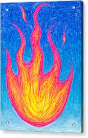 Fire Of Life Acrylic Print