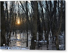 Fire On Ice Acrylic Print by Bill Helman