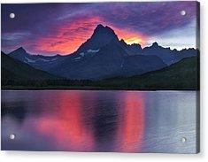 Fire On The Mountain Acrylic Print