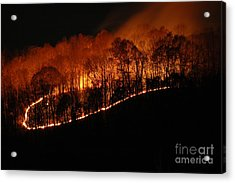 Fire On The Mountain Acrylic Print by Steven Townsend