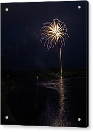 Fire On The River Purple Acrylic Print by Tim Radl