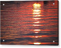 Acrylic Print featuring the photograph Fire On The Water by Brad Brizek
