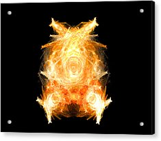 Acrylic Print featuring the digital art Fire Pig by R Thomas Brass
