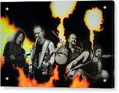 Metallica - ' Fire Rain On Me ' Acrylic Print by Christian Chapman Art