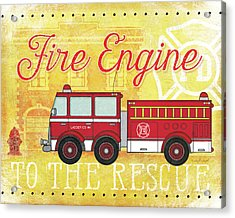 Fire Rescue Acrylic Print by Jennifer Pugh