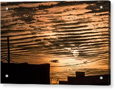 Acrylic Print featuring the photograph Fire Sky by Beverly Parks