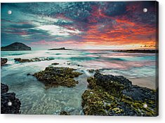 Acrylic Print featuring the photograph Fire Sky Explosion by Robert  Aycock
