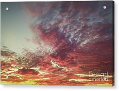 Fire Sky Acrylic Print by Holly Martin