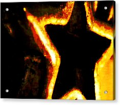Fire Star Acrylic Print by Rebecca Flaig